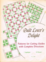 Vintage Quilt Lover's Delight Quilting Pattern Book Quilt Craft - $7.00