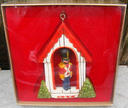 Hallmark Ornament 1976 TOY SOLDIER Guard House Twirl-About Christmas Tre... - $15.00