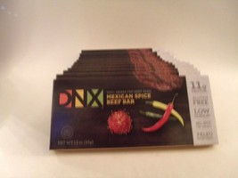 DNX Bars Paleo Protein Meat Snacks Grass Fed Mexican Spice Beef GF 11 Bars  - $19.78
