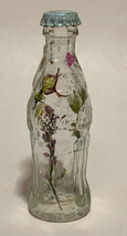 Coke Coca-Cola Mini Miniature crystal glass bottle Dried Colorful Flowers inside image 1