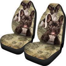 French Bulldog Lover Car Seat Covers Pair, 2 Front Car Seat Covers, Seat Cover f - $59.95