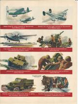 Vintage Ad 1945 Chevrolet War Ad / Segram's 5 Crown - $8.99