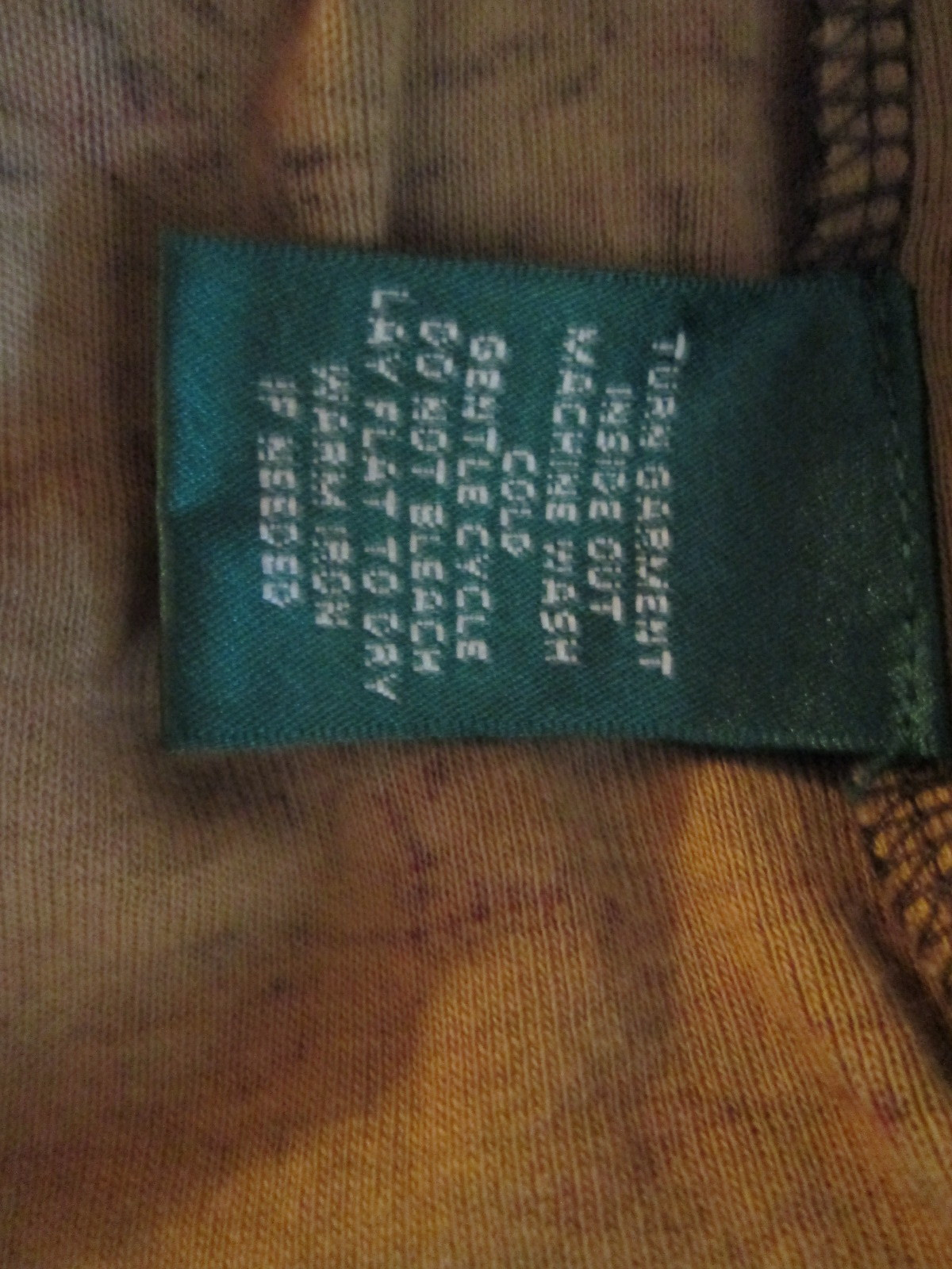 Womens Crew Neck Shirt by Ralph Lauren Size L Brown Pasely TF482/CJC