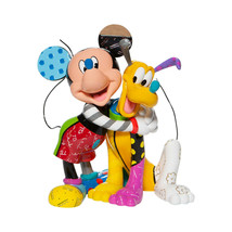 "8.46"" high Disney Britto Mickey Mouse & Pluto Figurine - Pluto 90th Anniversary"