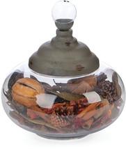 Skalny 7.75' Dx8.5 Round Glass Jar Canister W/Metal Lid - $60.70