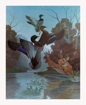 Ducks and Deer by Richard Sloan S/N Wildlife SN L/E Print on Paper - $49.49