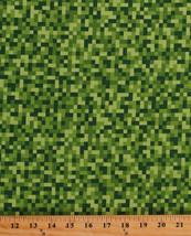Cotton Bitmap Pixels Digital Building Blocks Video Gamer Fabric BTY D301.16 - $11.95