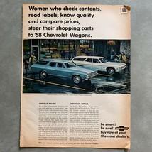Vintage Chevrolet Impala Chevelle Malibu Wagon Photo Print Magazine Ad 1968 - $9.89