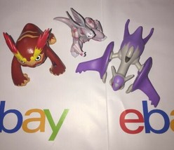 Assorted Pokemon Action Figure Figurine Toy Lot Of 3 Anime Figures #3 (cz2) - $20.00