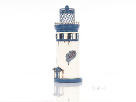 Vintage Lighthouse Architectural Model Figurine Nautical Home Decor - $55.12