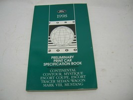1998 Ford 2000 Preliminary Print Car Specification Book - $9.89