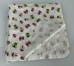 Circo Pink Green Brown White Cotton Flannel Ladybug Baby Girl Receiving Blanket - $29.69