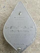 Vintage Irwin Strait-Line Blue Chalk Line Plumb Bob Line Reel Made in USA - $14.99