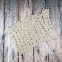 FOREVER 21 sz S open knit V-neck short sleeves loose fit sweater EUC (LA09) - $9.90