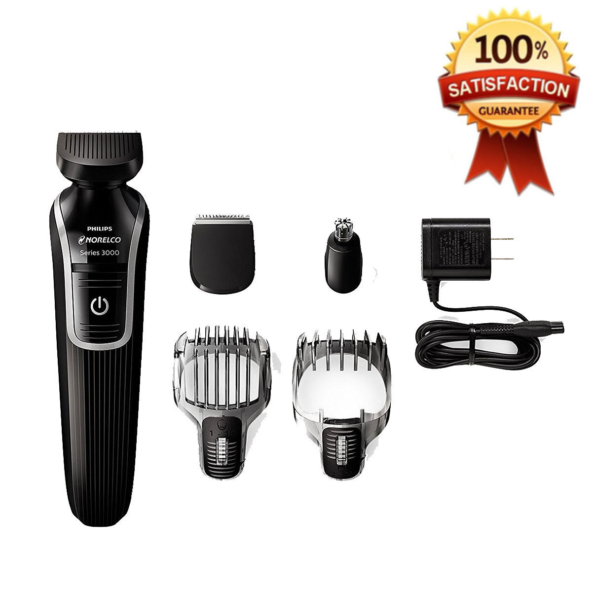 philips norelco electric shaver men grooming kit trimmer rechargeable nose be. Black Bedroom Furniture Sets. Home Design Ideas
