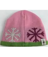 SMARTWOOL Merino Wool Baby Girl Pink Snowflake Hat - $14.67