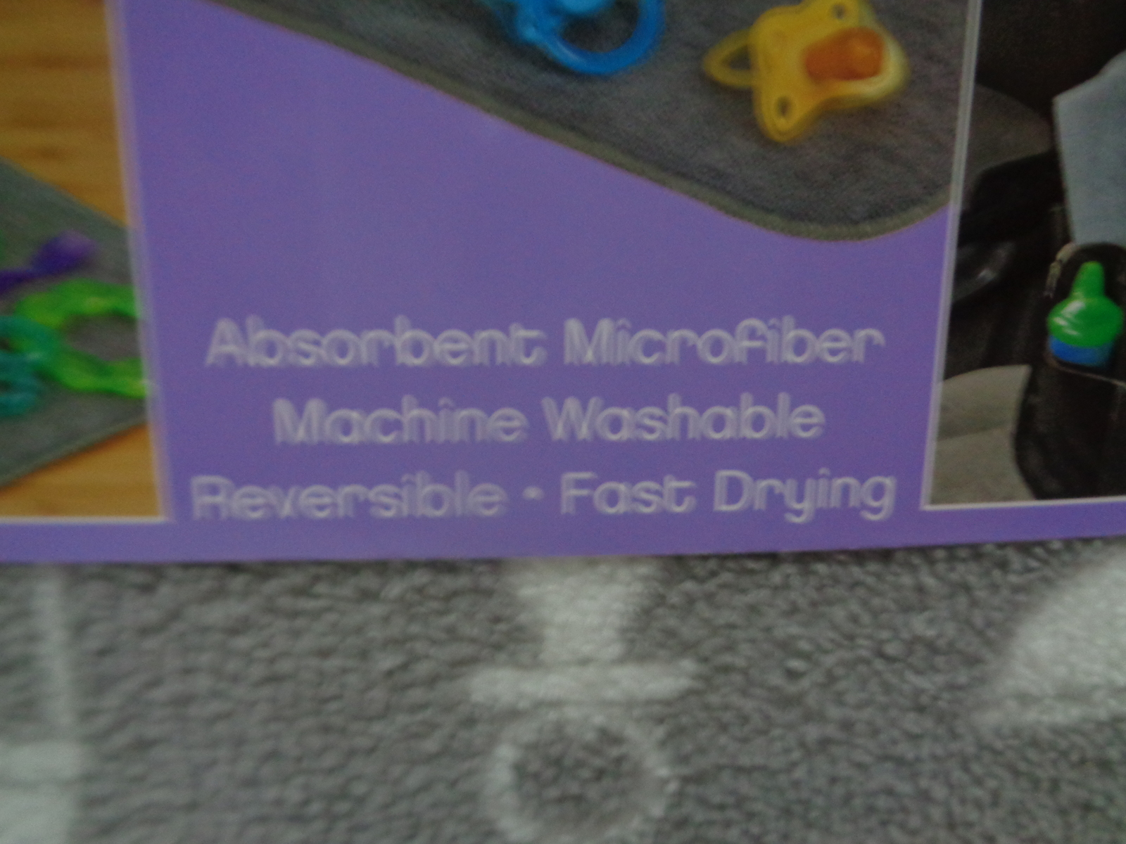"""Bottles 'n' More Drying Mat NWT 15"""" x 18"""" Gray or Lime Green Reversible Fast Dry"""