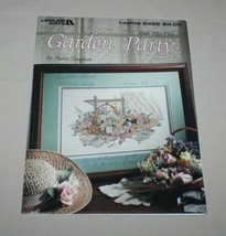 Garden Party Leisure Arts 2452 Cross Stitch Pattern Book 52 Paula Vaughan - $10.40
