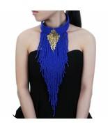Women Long Tassel Statement Pendant Bib Choker Necklace Bohemia Handmade... - $32.29