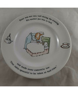 Wedgwood China Peter Rabbit Put to Bed Blue Sheet Bread & Butter Plate 7... - $7.91