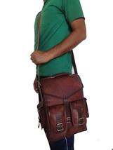 Real genuine leather Vintage Backpack laptop satchel brown vintage handm... - $50.91+