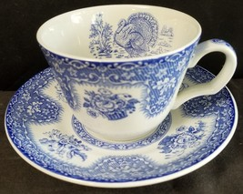 Spode Festival Blue Cup & Saucer Mint (Multiple Available) - $43.48
