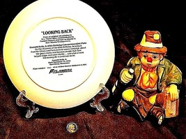 Emmett Kelly Clown Music Box, Plate and Pin AB 536 Vintage 1989 image 2