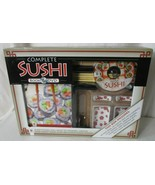 COMPLETE SUSHI KIT Book & DVD Preparation & Serving Items NEW ALL INCLUDED - $18.80