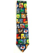 Looney Tunes Tie Stamp Collection Bugs Taz Marvin Roadrunner & More Necktie - $12.82