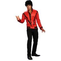 Adult Halloween Costume Michael Jackson 80s Pop Star Red Jacket Thriller... - $45.98