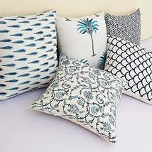Traditional Jaipur Set of 5 Block Print Fabric Indian Cushions Pillow Co... - $34.64