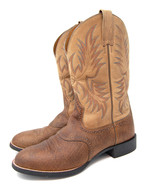 ARIAT men boots Heritage Stockman brown leather Cowboy Western Size 9.5 ... - $95.00