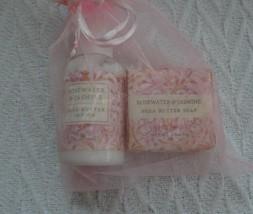 GREENWICH BAY TRADING CO Shea Butter Soap Lotion Duo Set in Rosewater & ... - $189,41 MXN