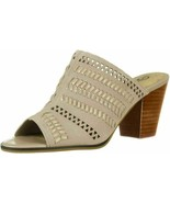 Bella Vita Women Block Heel Peep Toe Mules Koraline Size US 9W Cloud Suede - $19.94