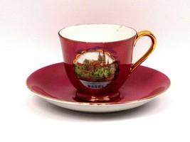 Vintage Souvenir Demitasse Teacup & Saucer Basel Switzerland - $9.25