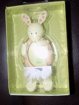 "Russ Springtime Moment Hanging BUNNY 1.5"" Photo holder Picture Frame Resin - $16.00"