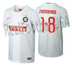 NIKE IVAN ZAMORANO INTER MILAN AWAY JERSEY 2014/15. - $150.00