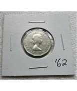 Canada 1962 Five Cents Nickel Coin! Queen Elizabeth II 5c 100% Nickel 12... - $2.05