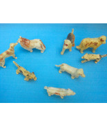 Dogs Vintage Toy Rubber Figurines Lot of 8 Breeds Collie Basset Hound Ai... - $14.95