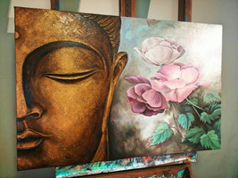 Buddha Bliss Original Oil Painting on canvas - $923.00