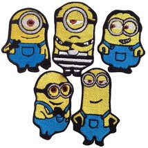 Minions Embroidered Patches Iron Sew On Bag Jeans Cartoon Jacket Badge A... - $2.88+