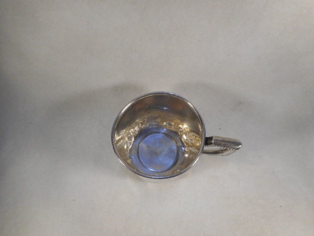 Antique International Sterling Silver Child Baby Cup with Embossed Enameled Duck