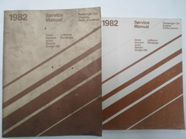 1982 dodge chrysler plymouth front wheel drive service manual set many m... - $24.80