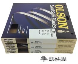 """Olson Band Saw Blades 67"""" inch x (3) Widths Set, Ryobi BS1001SV, Tradesm... - $42.99"""