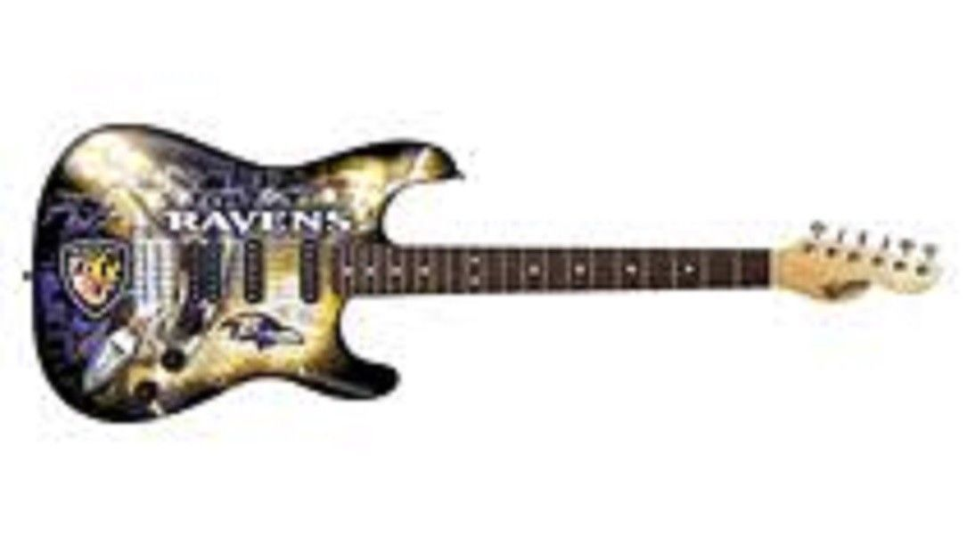Woodrow NENFL03 Baltimore Ravens Northender Guitar