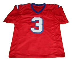 Nigel Gruff #3 The Replacement Movie New Men Football Jersey Red Any Size image 4