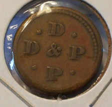 D & P Token Portland, Or. Off-Center - $9.00