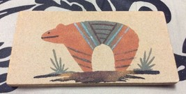 "Vintage SW New Mexico Native American Sand Painting Brown Bear Signed 6""... - $14.50"