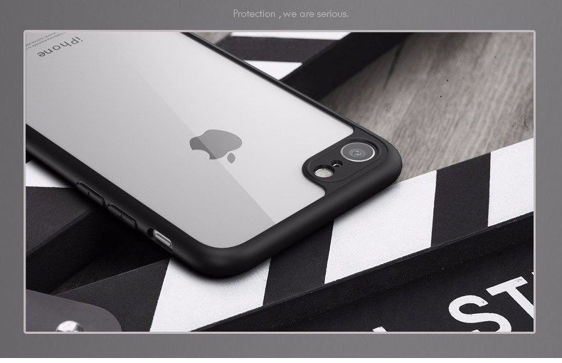 Apple iPhone X 7 Shockproof Clear Ultra Thin Hard Hybrid Bumper Back Case Cover image 12