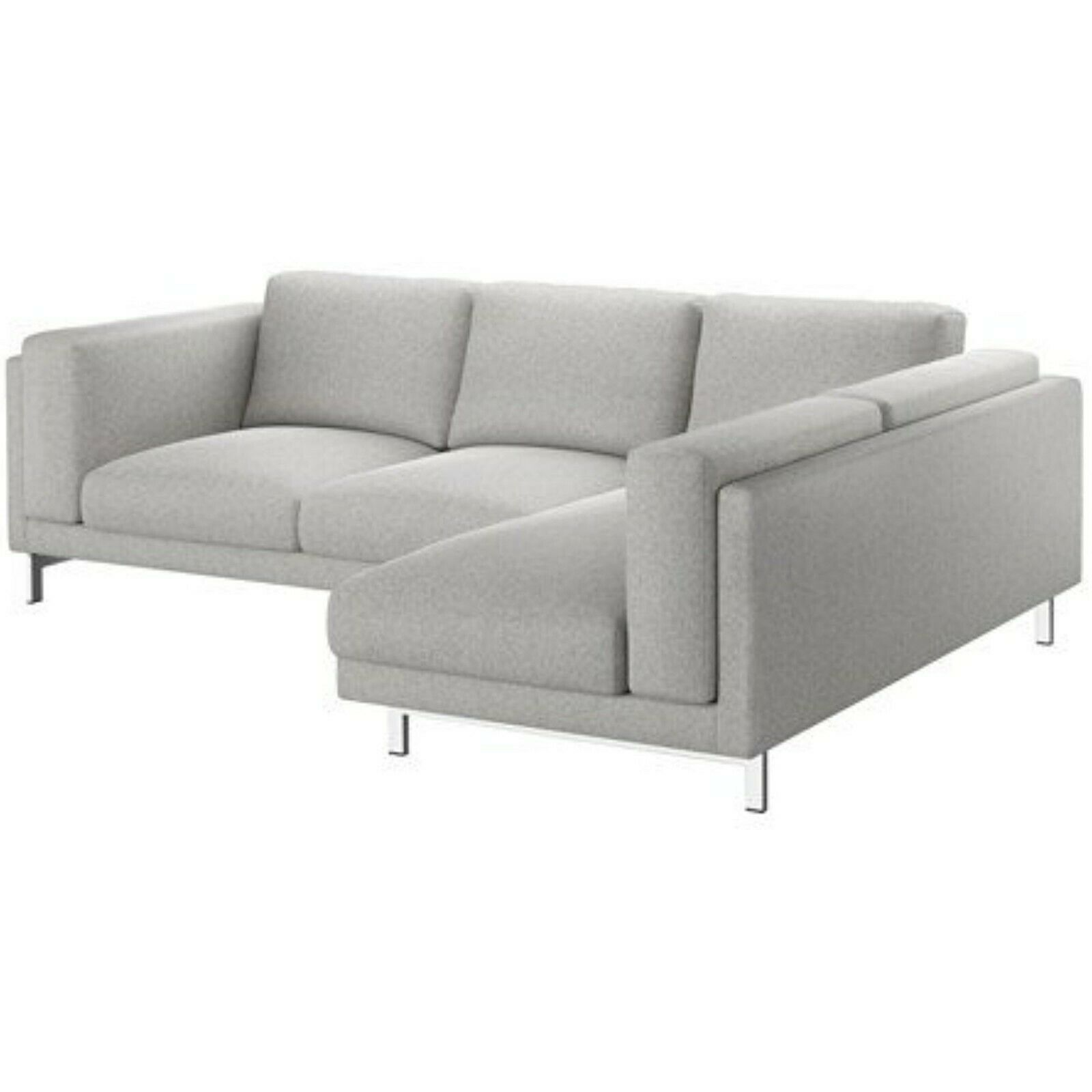 Primary image for IKEA NOCKEBY COVER SLIPCOVER FOR SOFA WITH RIGHT CHAISE Tallmyra white/Black
